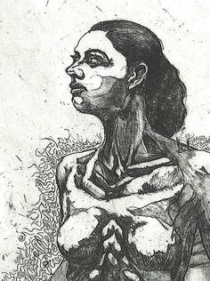 Deseo.. Desire.. Medium Copper plate etching print by ~AMZNFX