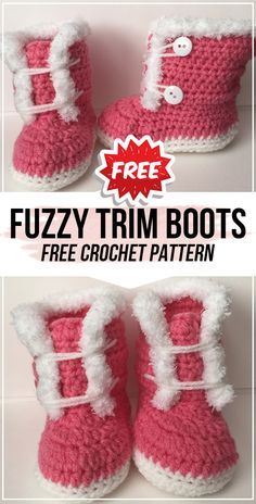 Crochet Baby Boots Pattern, Baby Booties Free Pattern, Crochet Baby Jacket, Baby Shoes Pattern, Crochet Baby Shoes, Crochet Baby Booties, Crochet Baby Stuff, Crochet Cowboy Boots, Knitted Baby