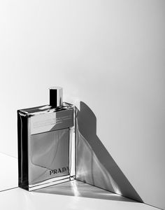 prada perfume, fragrance still life, product photography by marco girado
