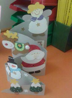 Cartão sanfona a Christmas Bible, Paper Christmas Ornaments, Homemade Christmas Cards, Christmas Cards To Make, Christmas Crafts For Kids, Christmas Activities, Xmas Crafts, Christmas Art, Homemade Cards