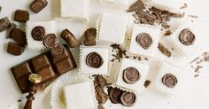 "Chocolate ""Wax"" Seal Mini Monogramed Cakes -"