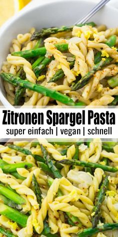 Pasta mit Spargel in Zitronensauce Looking for spring and summer recipes? Then this pasta with asparagus in lemon sauce is just right for you! I absolutely love pasta recipes! You can find more vegetarian and vegan recipes at veganheaven. Vegan Recipes Easy, Whole Food Recipes, Dinner Recipes, Vegan Recipes With Asparagus, One Pot Recipes, Vegetable Pasta Recipes, Cooking Recipes, Egg Recipes, Amazing Recipes