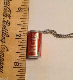 """Vintage 1970's Coca Cola Necklace - 1"""" (approx) NOS"""