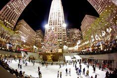 Pista de hielo en Rockefeller Center. Nueva York.