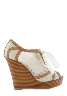 wedding wedges! I love wedges. This might make it possible for me to be in heels all night lol
