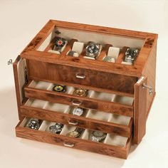 Watch Box. I might need this cause watches take up more than 50% of my jewelry box.