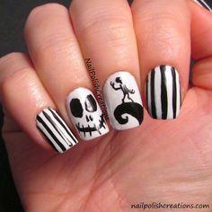 Nail Polish Creations: Jack Halloween Nails