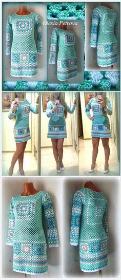 Long Sleeve Short Dress #GrannySquareSweater #GrannySquareideas #Bohoclothes #Hippiedress #Ethnic #GrannySquareClothes #CrochetGrannySquare #Knitting Rustic #Top #Mint #grannydress #grannytop #grannytunic #hippiejacket https://www.etsy.com/OLEANDR/listing/199064639/long-sleeve-short-dress-granny-square?ref=related-5