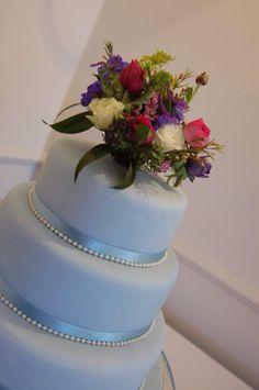 Vintage Blue Stacked Cake