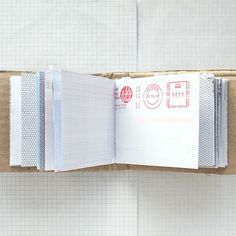Mail Book Personalised Recycled Paper Notebook Mail by badbooks