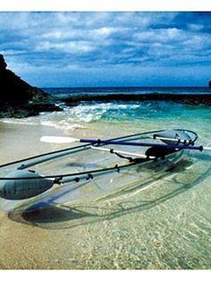 See-through kayak! Yes!