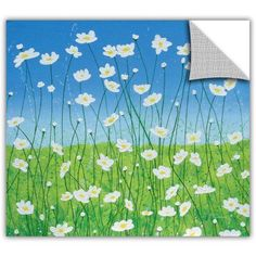 Herb Dickinson Jesse's Daisies Removable Wall Art Graphic, Size: 24 x 24, White