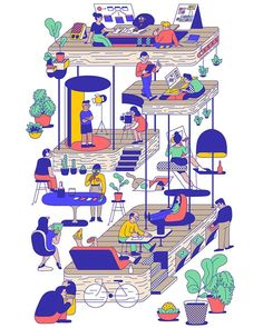 Illustration for NEA website project with and 🤝 # Flat Illustration, Graphic Design Illustration, Digital Illustration, Isometric Design, 3d Drawings, Illustrations And Posters, Book Design, Character Design, Kawaii