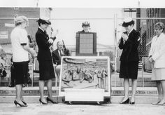Navy WAVES at the dedication of the bronze relief to Women in the Navy Military Women, Military Life, Christian Dior, Navy Memorial, Navy Chief Petty Officer, Go Navy, Navy Wife, Sailor Collar, Military Service