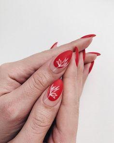 accessori per nail art: Beauty & Personal Care - Nageldesign - Nail Art - Nagellack - Nail Polish - Nailart - Nails - Red Manicure, Manicure Y Pedicure, Red Nails, Color Nails, Pastel Nails, Bling Nails, Flower Nail Designs, Flower Nail Art, Nail Art Designs