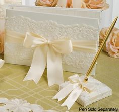 Chantilly Lace Guest Book | Wedding Guest Book