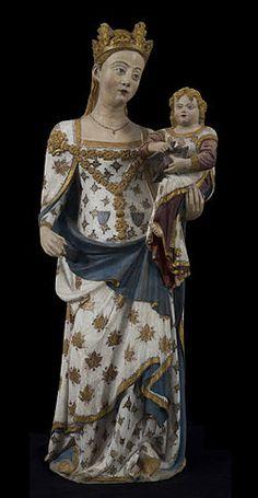 Bellpuig de les Avellanes Virgin by Bartomeu de Robió (not confirmed), 14th Century , Lleida Museum. Catalonia | Europe
