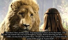 It is so true. Don't miss it. You can think it cool to go to Narnia, but the best parts of Narnia are already in our world.