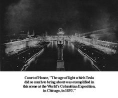 The Columbian Exposition was lit up like an overloaded Christmas Tree, especially at night. Brighter than Coney Island's Luna Park. This was all thanks to Thomas Edison and his staff's development of the electric light bulb and thanks to Tesla's further advancements. Light was everywhere for this fair. Millions of lights were used, making Chicago the home to The White City, the core of the exposition.