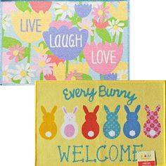 2 Pack Easter Welcome Printed Accent Rugs 20 inch x 30 inch KDS http://www.amazon.com/dp/B00ZIBNBZ2/ref=cm_sw_r_pi_dp_u-rWwb0YB4231