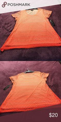 New Elementz Short Sleeve Blouse NWT Short Sleeve Blouse. It is 100 percent polyester. It has an ombré effect that I love. Elementz Tops Blouses