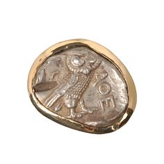 AthenianOwlRing  Reference Number: R7250  Athenian Owl Coin ca 450-400BC.