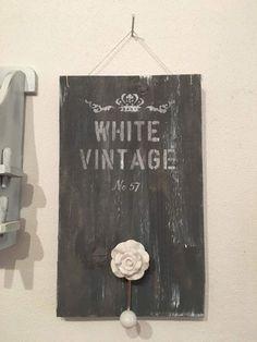 Deko-Objekte - Vintage Deko Brett im Shabby chic style - ein Designerstück von MichasBastelstube bei DaWanda