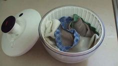 Dry delicate tops in a salad spinner. | 31 Creative Life Hacks Every Girl Should Know