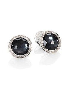 IPPOLITA Diamond, Hematite, Mother-of-Pearl and Sterling Silver Earrings<31095.<3<3