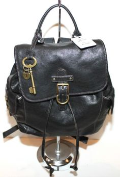 Fossil leather backpack $118.99