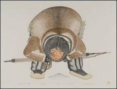 1417: Inuit Art KANANGINAK POOTOOGOOK, print