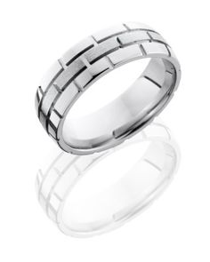 Lashbrook rings come in a variety of metals and pattern choices