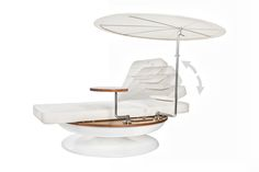 Sun lounger. Luxury and modern technology combined in a sun lounger – world premier in Dubai…