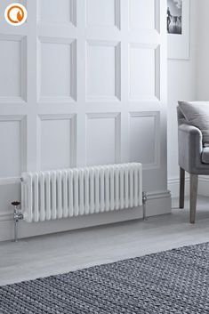 Featuring a 3 column design and an industrial-inspired raw metal finish, this classic Milano Windsor radiator is full of character. Perfect for creating cosy, modern living spaces with a timeless look. Shop now at BestHeating. Living Room Bedroom, Living Room Decor, Living Spaces, Living Rooms, Horizontal Designer Radiators, Column Radiators, Column Design, Brick And Wood, Types Of Rooms