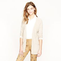Collection cashmere waffle cardigan