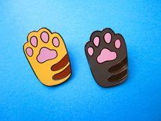 Cat Paw Hard Enamel Pin