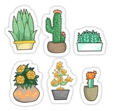 """Plant bois Stickers by Sophia Bersentes Planner Stickers, Phone Stickers, Journal Stickers, Cool Stickers, Printable Stickers, Label Stickers, Custom Stickers, Sticker Street Art, Cactus Stickers"