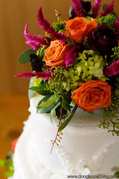romantic fall wedding--cake