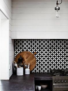 1000 ideas about cuisine noir et blanc on pinterest - Carrelage damier noir et blanc cuisine ...