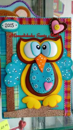Owl Crafts, 3d Paper Crafts, Diy And Crafts, Crafts For Kids, Arts And Crafts, Merian, Custom Book, Felt Birds, Decorate Notebook