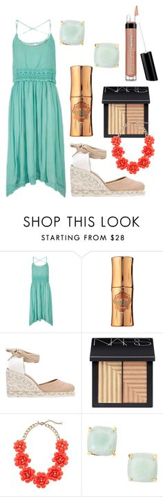 """""""Untitled #828"""" by taryn-scott ❤ liked on Polyvore featuring Benefit, Castañer, NARS Cosmetics, J.Crew, Kate Spade, Bare Escentuals, women's clothing, women, female and woman"""