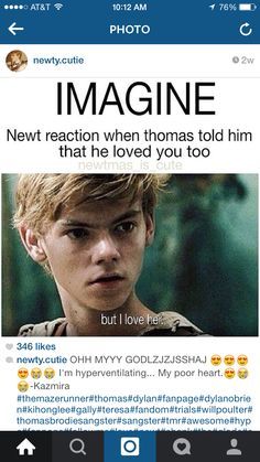 Imagine>>>> i would so go to Newt<<<<< mate just cause he's hot and has the best personality, doesn't mean Thomas isn't and doesn't have a perfect personality >:3 but yeah I can't choose