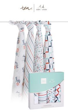 the team at @teacollection travels the world for inspiration. their travels brought us fish pond, a colorful collection of fresh prints available in our 4-pack of classic, soft cotton muslin swaddles. you'll love our swaddles for so much more than swaddling: use as a burp cloth, a play mat and so much more.