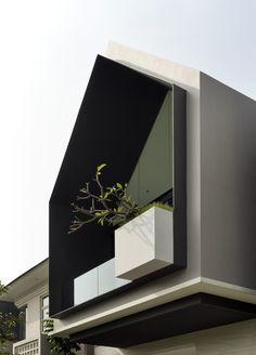 Architecture Design Concept, Architecture Résidentielle, Cultural Architecture, Facade Design, Exterior Design, Architectural Section, Facade House, Easy Projects, House Projects