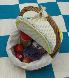 Diy Picnic basket - never thought of this before