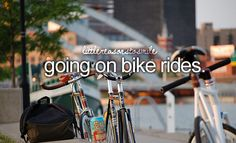 Little reasons to smile ... going on bike rides! :o)