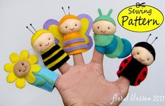 insect felt finger puppets