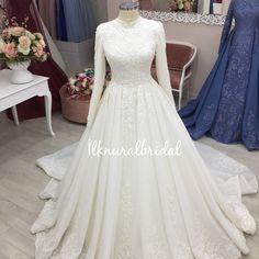 elegant details, our new model the dress # nişanlık # tesettürgelinlik There are different rumors about the … Modest Wedding Gowns, Muslim Wedding Dresses, Pakistani Wedding Outfits, Wedding Hijab, Bridal Outfits, Bridal Dresses, Elegant Ball Gowns, Gala Dresses, Dress Design Drawing