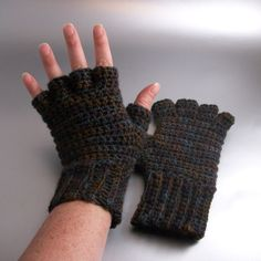 Sticks and Stones  Half Finger Crochet Gloves by Dreamspirations, $24.00