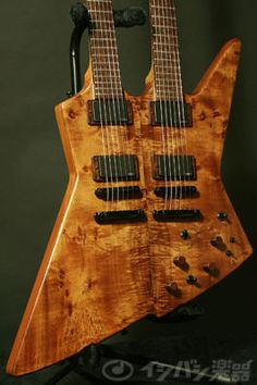 double neck guitar | ... Lawrence Custom Hand Made Explorer Double Neck | Double Neck Guitar
